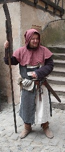 Eine überaus freundliche Wache auf der Ronnenburg