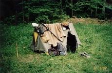 Mein Zelt beim Abbau