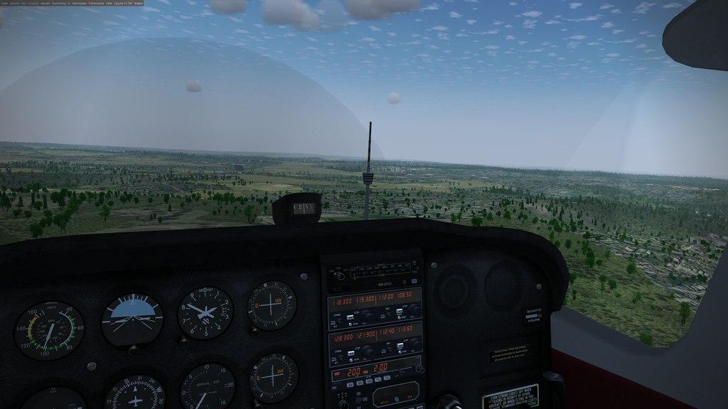 FlightGear screenshot over Stuttgart / Germany